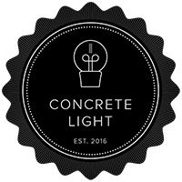Concrete Light - Beton Lampen Logo